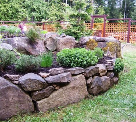 rock garden bed gardening with rocks gardens raised beds and raised