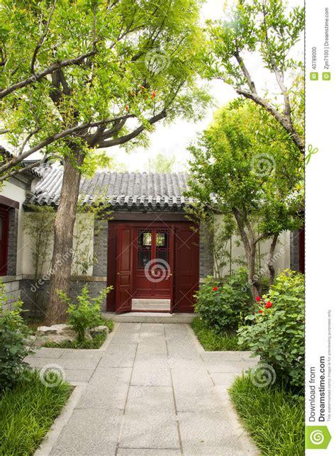 Colonial House Plan chino asi 225 tico edificios antiguos patios arma blanco