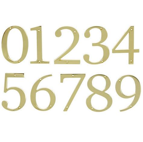 brass house brass house numbers modern house