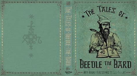 tale book cover template the tales of beedle the bard printable book cover