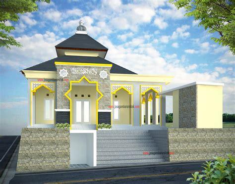 contoh desain gapura masjid mushola minimalis terbaru layanan jasa gambar arsitek