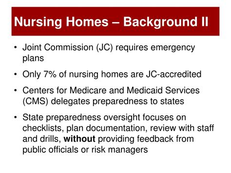ppt emergency preparedness in nursing homes and agencies