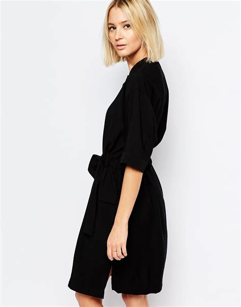 whistles belted shirt dress ootd