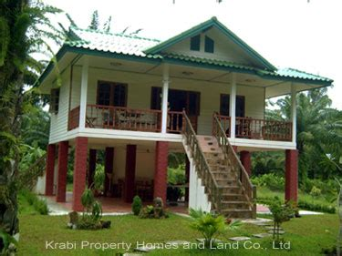 buying house in thailand modern thai style house for sale bungalow land krabi real estate land and