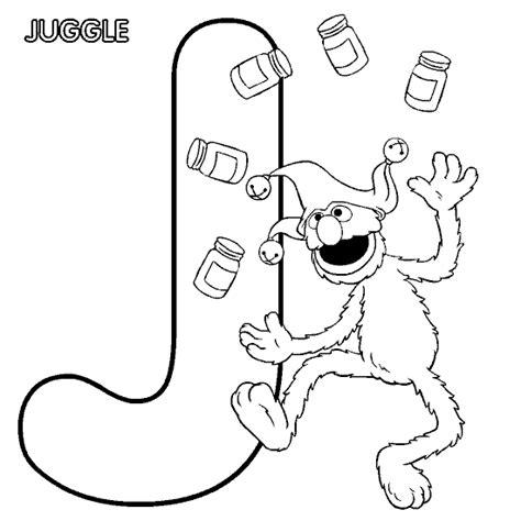 coloring activity pages quot j quot is for quot juggle quot elmo