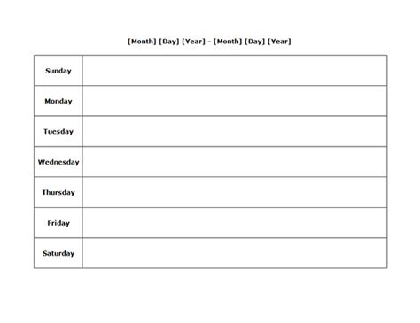 weekly calendar template pdf weekly blank calendar landscape 03 free printable templates