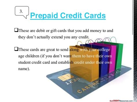 Different Types Of Gift Cards - different types of credit cards and features