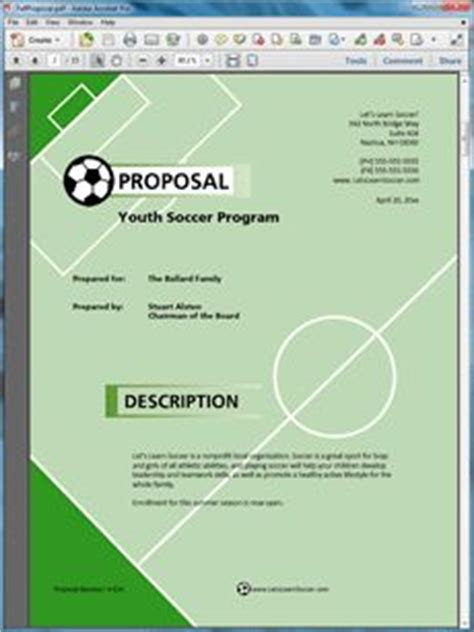 1000 Images About Sle Educational Proposals On Pinterest Sports Program Templates