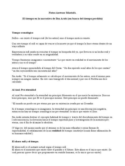 Anwaar Mustafa- El Tiempo en La Narrativa de Ibn Arabi. en