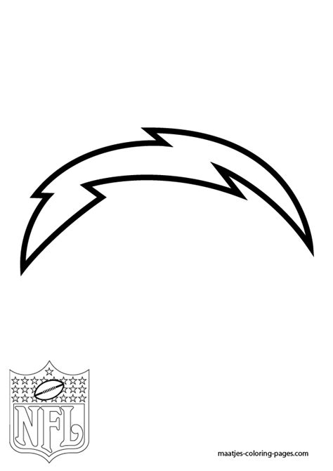 nfl chargers coloring pages sandiego chargers free colouring pages