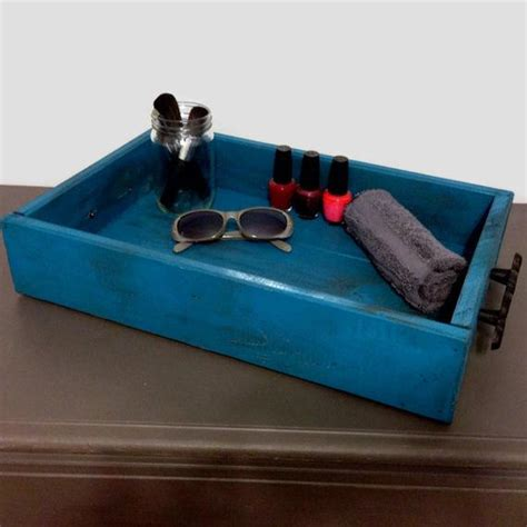 Wood Vanity Tray by Distressed Wooden Vanity Tray Wood Serving Tray Breakfast