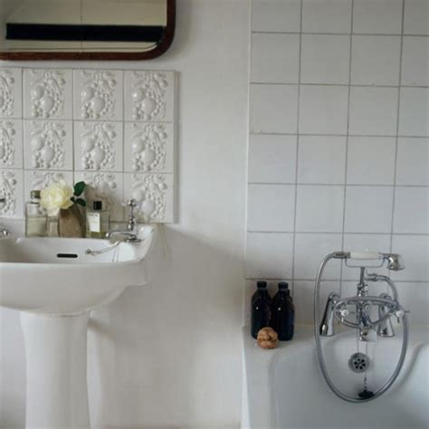 White Bathroom Tiles Uk white bathroom mixed tiles housetohome co uk