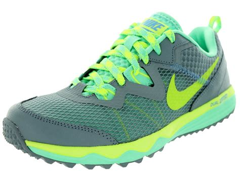 nike dual fusion trail running shoes nike s dual fusion trail running shoes gray volt ebay