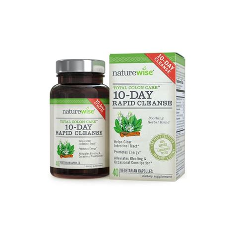 Total Colon Detox by Naturewise 174 Total Colon Care Rapid 10 Day Cleanse 40