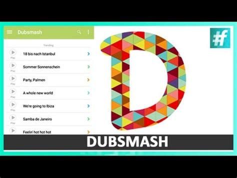 tutorial video dubsmash full download how to use dubsmash app for all smartphone