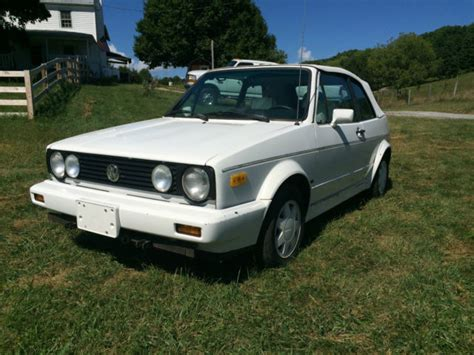 volkswagen cabriolet triple white manual transmission  sale  staunton virginia
