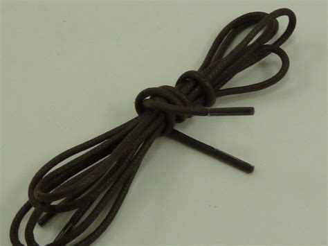 new black and brown pair cotton waxed dress shoelaces shoe laces 30 quot ebay