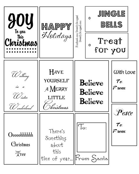 printable christmas tags black and white new calendar