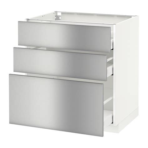 metod base cabinet with 3 drawers white ma grevsta
