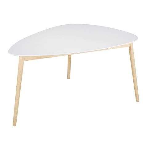 L For Dining Table Scandinavian White Dining Table L 150 Maisons Du Monde