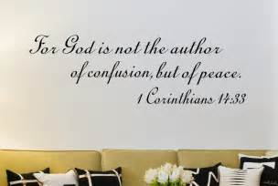 1 corinthians 14 33 scripture christian wall decal 1 jeremiah 29 11 bible verse vinyl wall decal for i know the