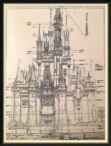 castle blueprint w d w cinderella s castle schematics disney tees