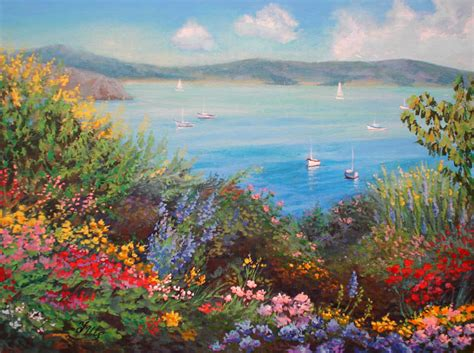 Paintings Of Flower Gardens Flower Garden By Herrerojulia On Deviantart