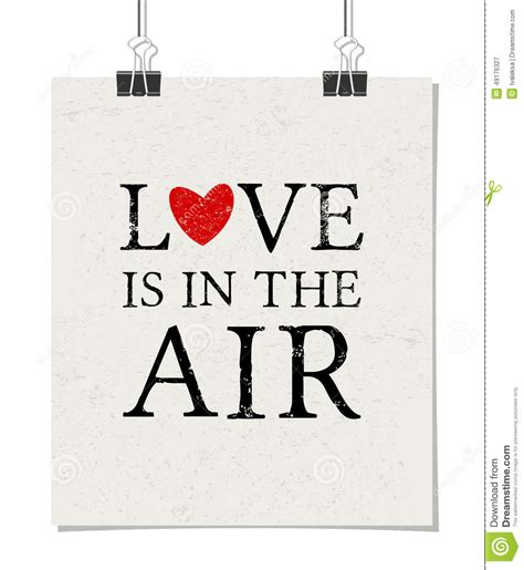 Is In by Is In The Air Poster Stock Vector Illustration Of