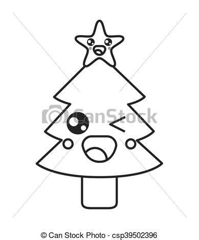 imagenes de arboles de navidad kawaii kawaii 225 rbol navidad icono kawaii plano 225 rbol
