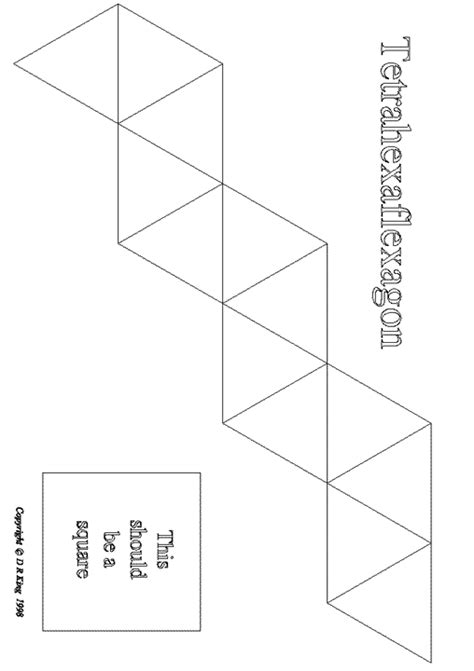 hexaflexagon template printable flexagons