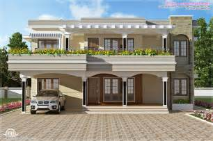modern villa house plans modern flat roof villa in 2900 sq kerala home