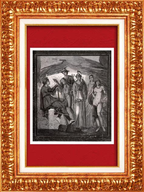 Miroir Fenetre 1877 by Gravures Anciennes Vue De Pompei Arch 233 Ologie Le