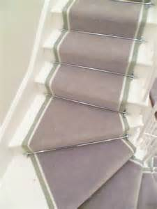 Commercial Rugs Runners Double Tape Stair Runner With Chrome Rods Belgravia