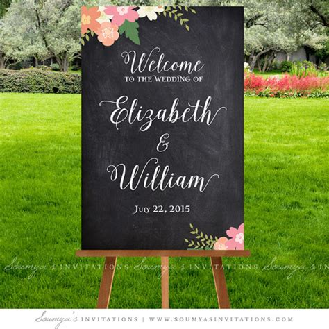 wedding ceremony welcome sign chalkboard wedding signs wedding welcome sign printable