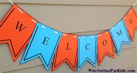 welcome banner template printable welcome banner template day of school