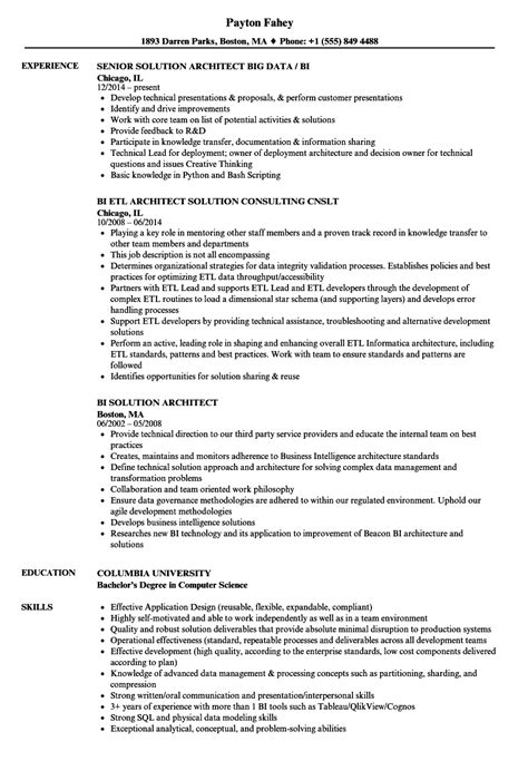 Etl Architect Cover Letter by Etl Architect Sle Resume Technical Trainer Sle Resume Cover Letter