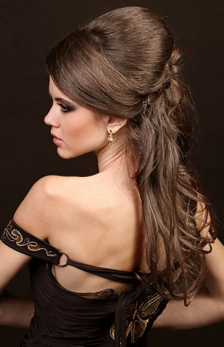 party hairstyles for long straight hair a long brown hairstyle from the party hair collection no