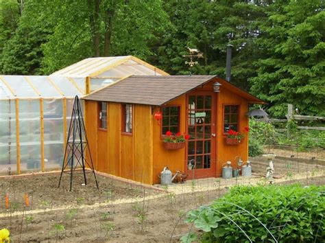 Shed Greenhouse Plans by Go Green With A Garden Shed Greenhouse My Shed Building