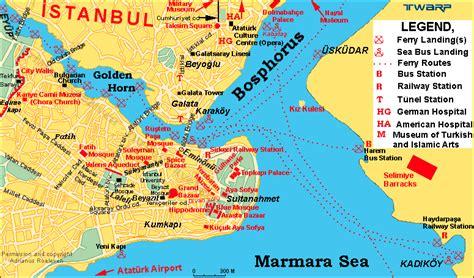 printable map istanbul istanbul map istanbul maps