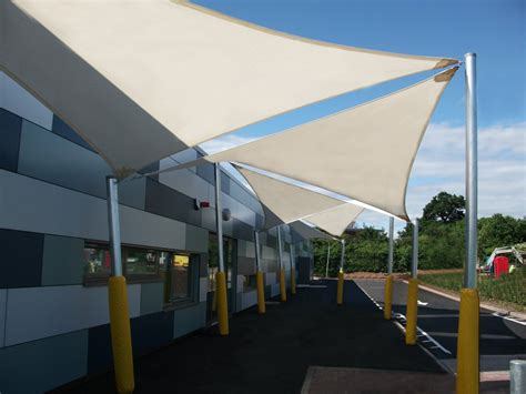 Sail Awnings Uk by School Shade Sails Colourful Uv Protection In