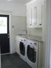 laundry mudroom black door cottage laundry room wesley ellen design