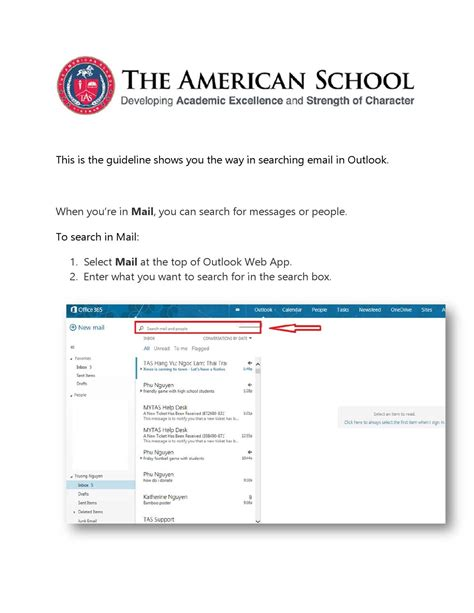 How To Search Outlook Email Office 365 How To Search Email In Outlook By The American School Page 1 Issuu