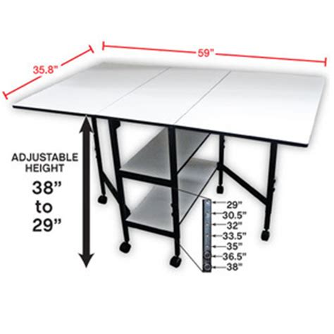 sullivans 38431 hobby craft cutting table 36x60 quot adj