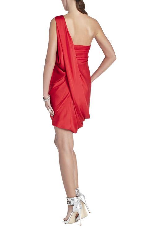 one shoulder draped dresses atla one shoulder draped dress