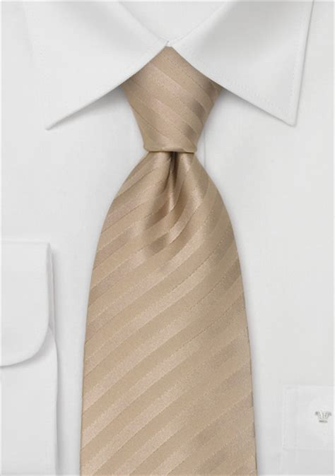 wedding neck ties light brown striped tie