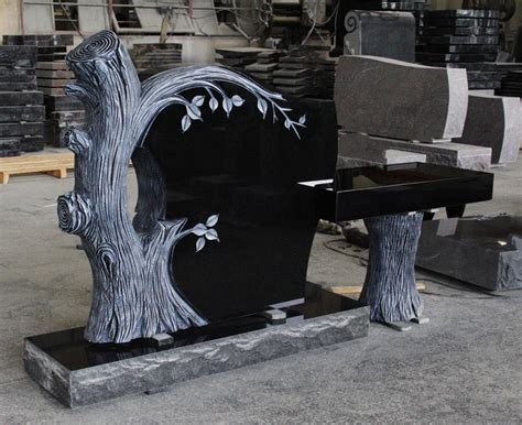 Home Decoration Indian Style Indian Black Granite American Style Tree Shape Monument