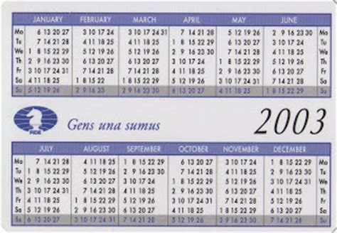 Calendario 2003 Completo Escacultura Febrero 2009
