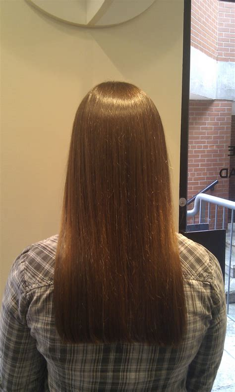 long same length hair one length haircut karen the spa day retreat