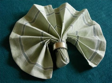 Simple Napkin Origami - serviette napkin folding simple fan variation recipe