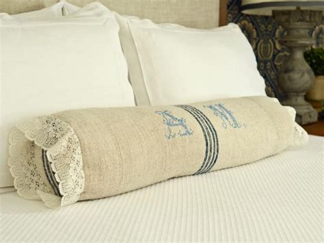 bed bolsters pillows how to sew a bedroom bolster pillow hgtv